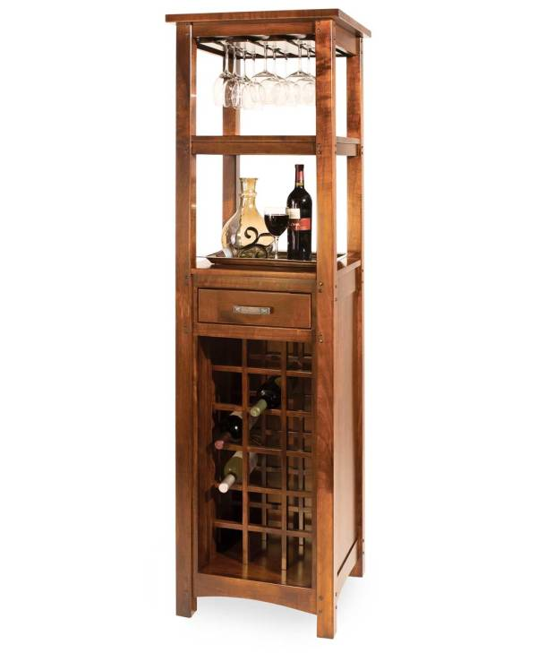 Amish Wine Cabinet Furniture