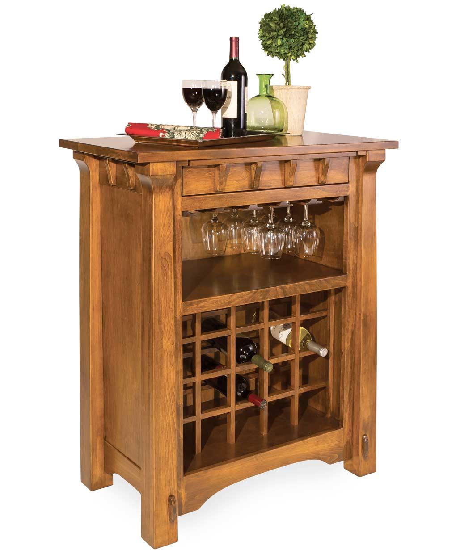 Manitoba Wine Cabinet  Amish Direct Furniture