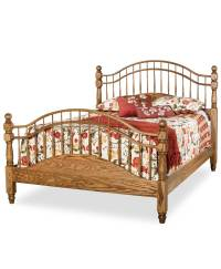 Double Bow Spindle Bed - Amish Direct Furniture