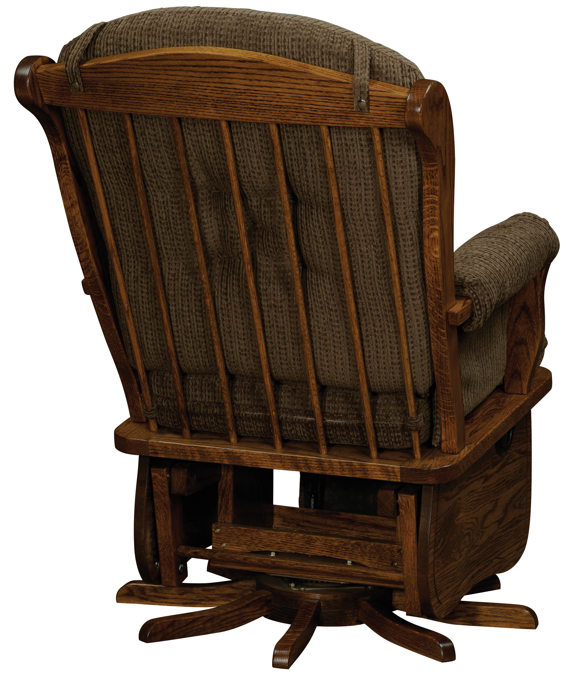 childcare glider rocking chair ottoman walnut orange wingback swanback swivel amish direct furniture