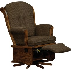 Glider Chairs Rocking Chair Upholstered Swanback Swivel Amish Direct Furniture