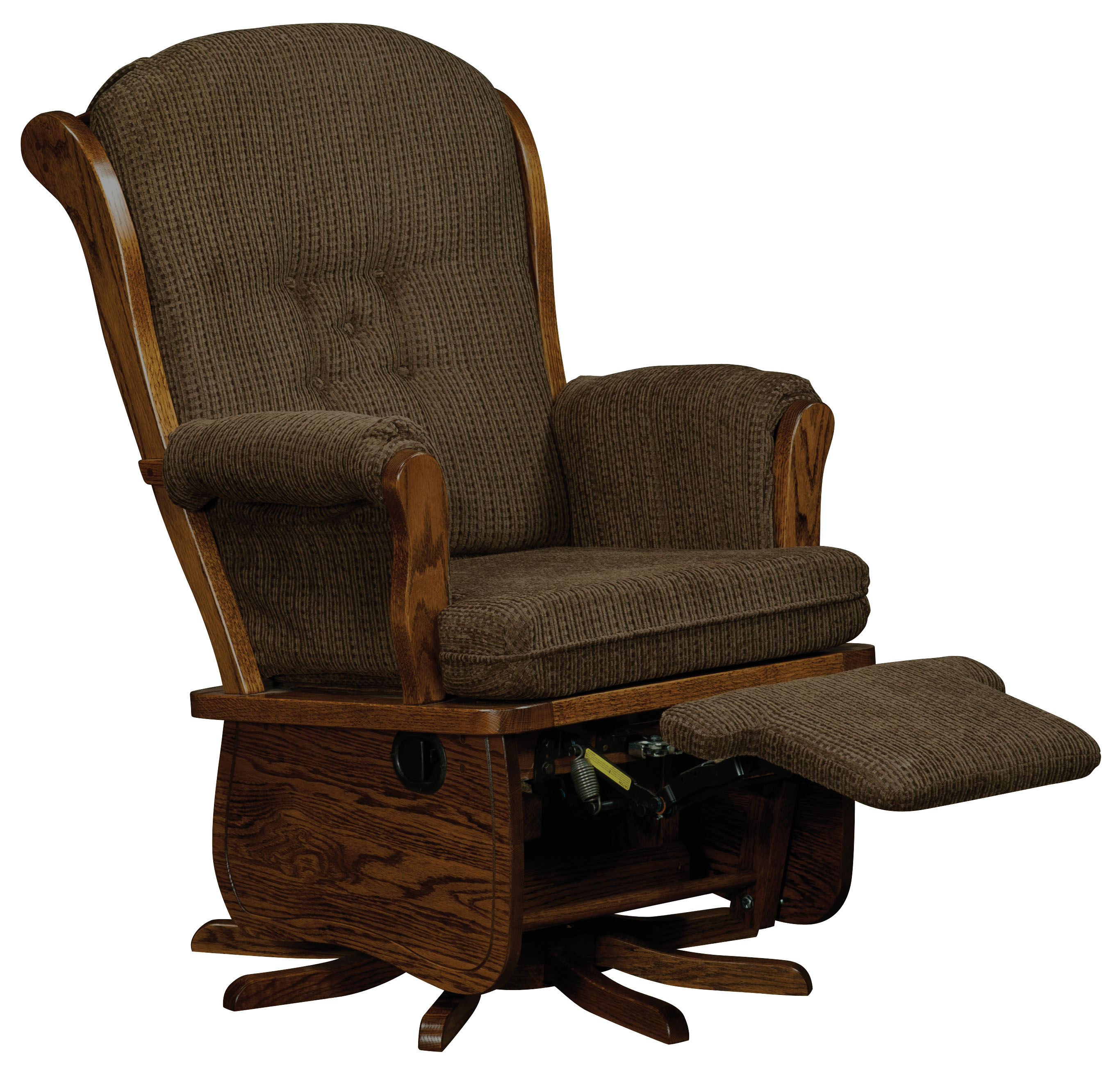 Swivel Glider Chairs Swanback Swivel Glider Amish Direct Furniture