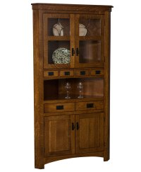 Cape Cod Corner Curio Cabinet - Amish Direct Furniture