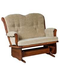 Swan Back Loveseat Glider - Amish Direct Furniture