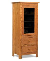 Mission 1-Door 2-Drawer Stereo Cabinet - Amish Direct ...