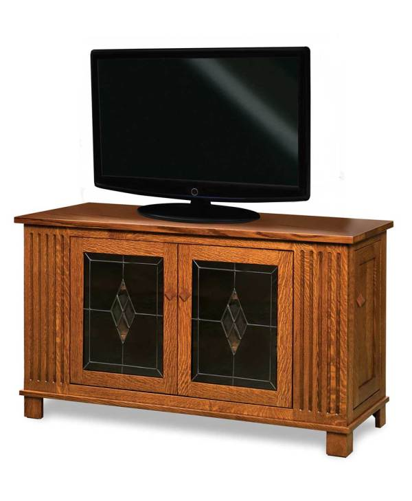 TV Stand with Side Storage Doors