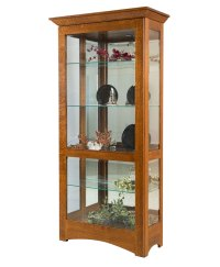 Leda Curio Cabinet - Amish Direct Furniture