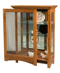 Leda Curio Cabinet - Amish Direct Furniture