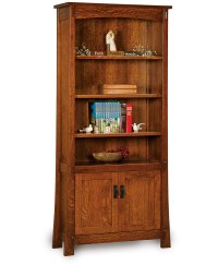 Modesto Bookcase with Doors - Amish Direct Furniture