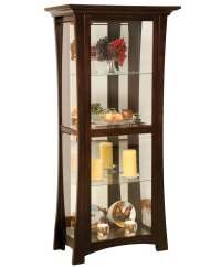 Sheridon 4-Shelf Curio Cabinet - Amish Direct Furniture