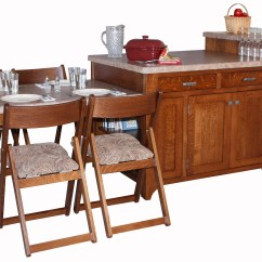 Space Saver Kitchen Table White Drop In Sink Island Amish Direct Furniture