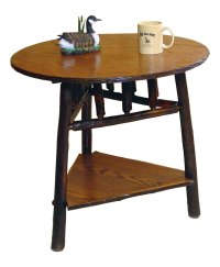 Round Log End Table - Amish Direct Furniture
