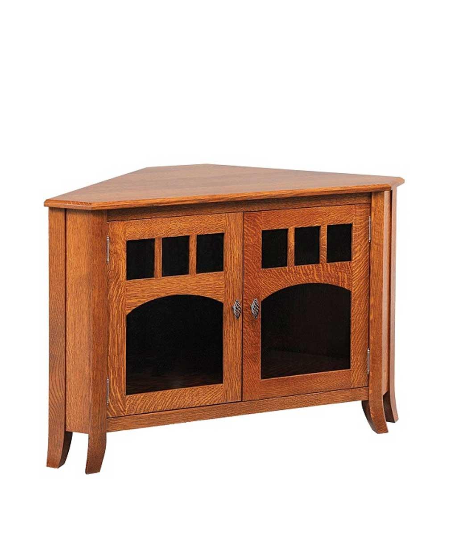 Old World Style #32 Corner TV Stand