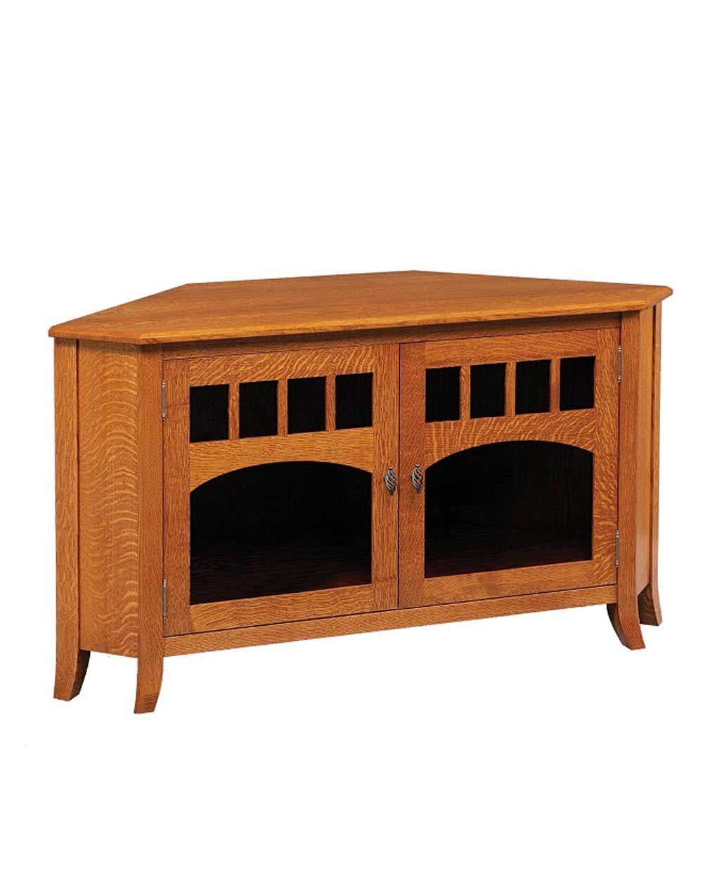 Old World Style #40 Corner TV Stand
