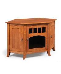 Old World Style #35 Corner TV Stand