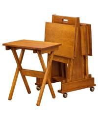 Mission Folding TV Tray Set - Amish Direct Furniture