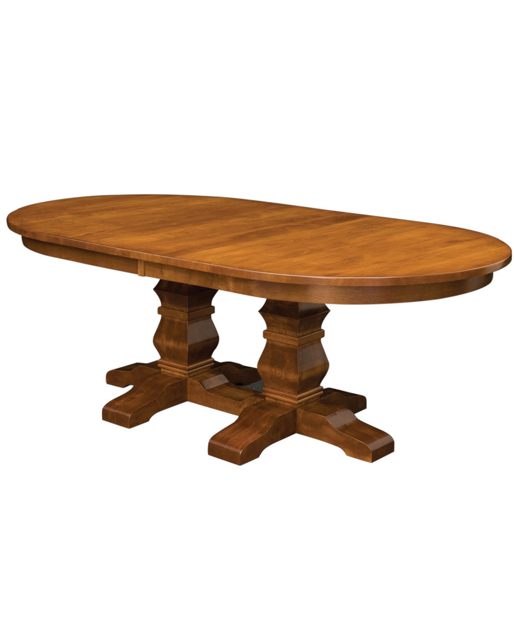 pedestal kitchen table affordable tables bradbury double amish direct furniture trestle