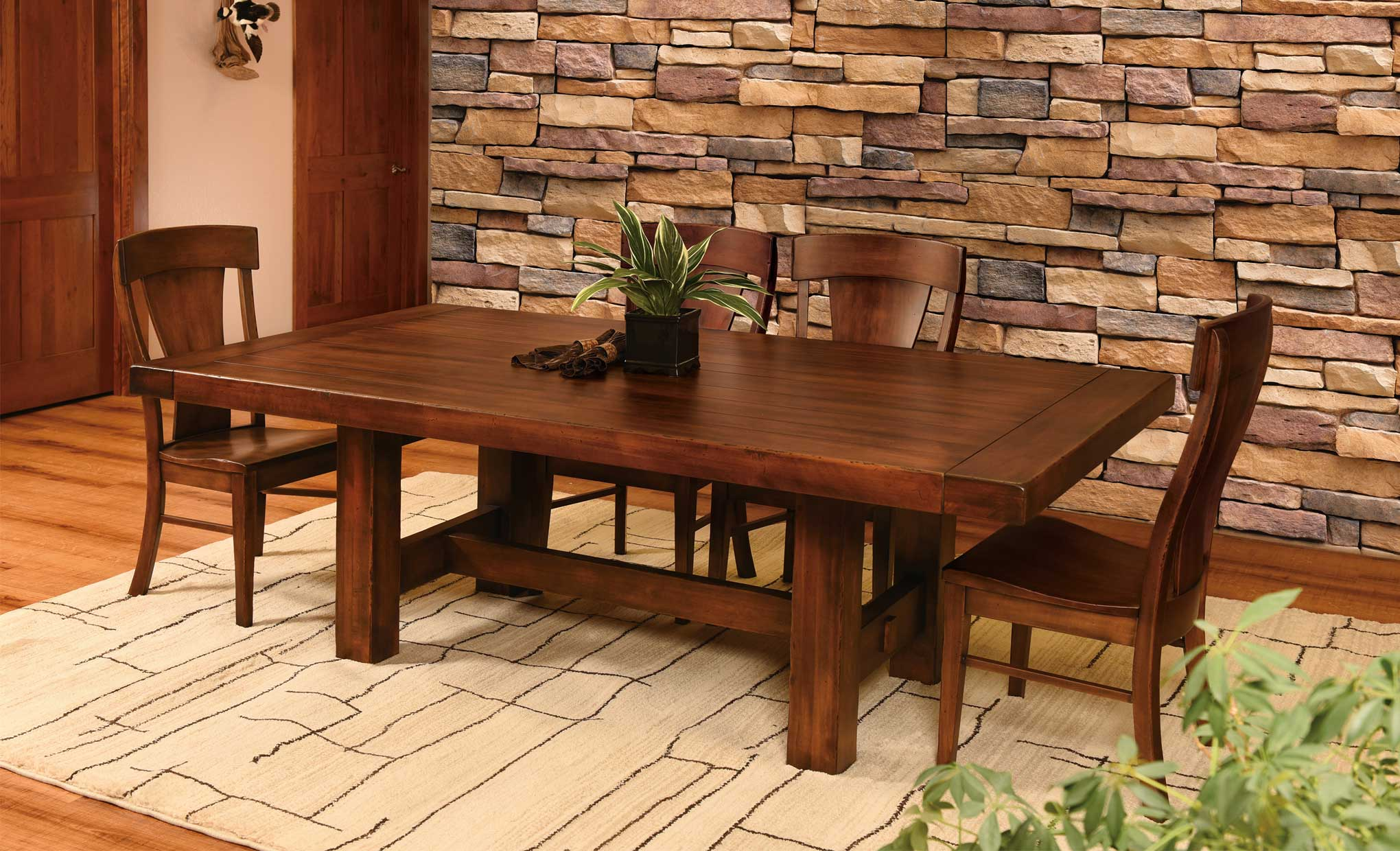 History Of The Trestle Dining Room Table Amish Direct