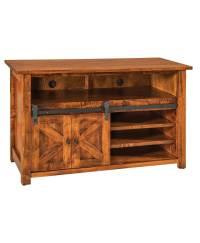 Teton TV Stand with Sliding Barn Wood Door - Amish Direct ...