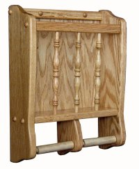 Toilet Paper Holder/Magazine Rack - Amish Direct Furniture