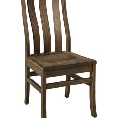 Distressed Kitchen Chairs Sink Pipe Salem Chair Amish Direct Furniture Side Shown In Red Oak With Weathered Grey