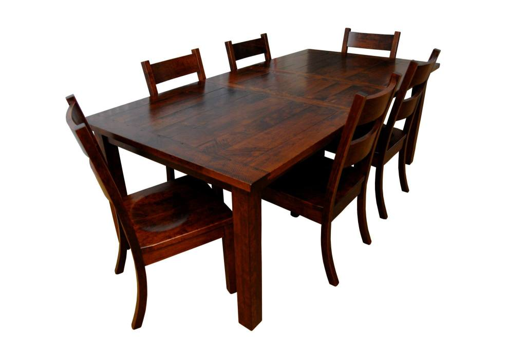 Western Plank Table Top with 18' Leaf - Rustic Cherry