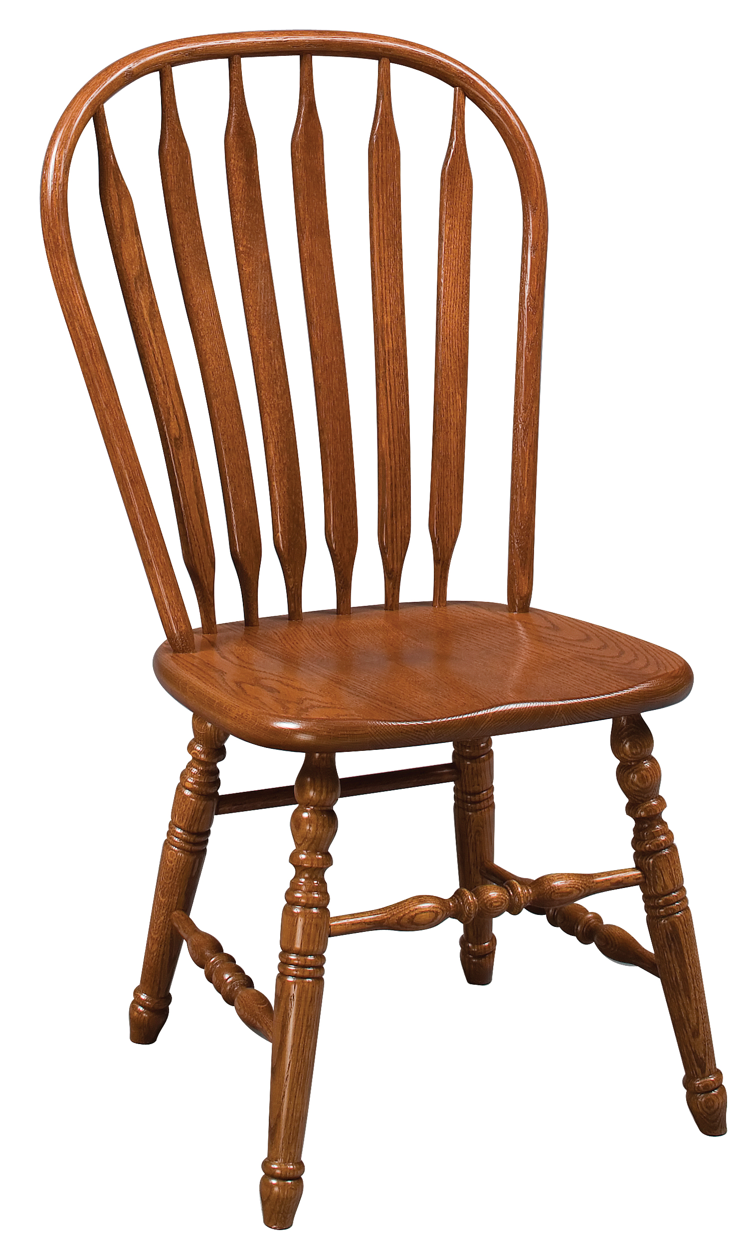 Oak Windsor Chairs Eh Oak Deluxe Paddle Back Windsor Side Chair Amish