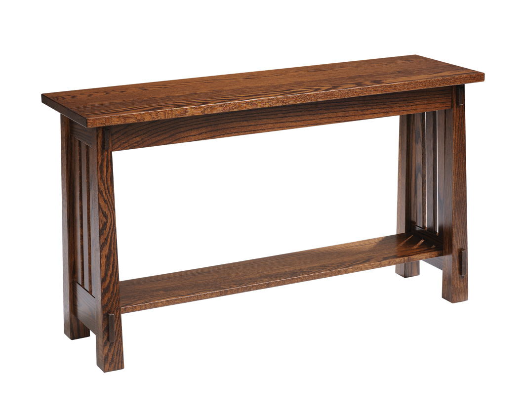 mission sofa table chaise lounge with storage country amish furniture designed