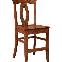Chair Stool Counter Height Fancy Office Chairs F Andn Amish Stationary Wood