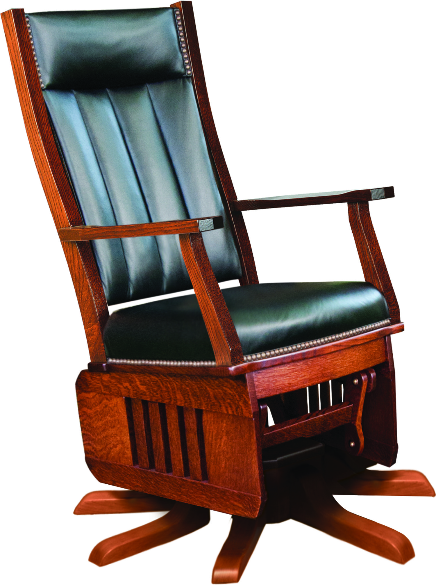 Amish Rocking Chair Mission Swivel Glider