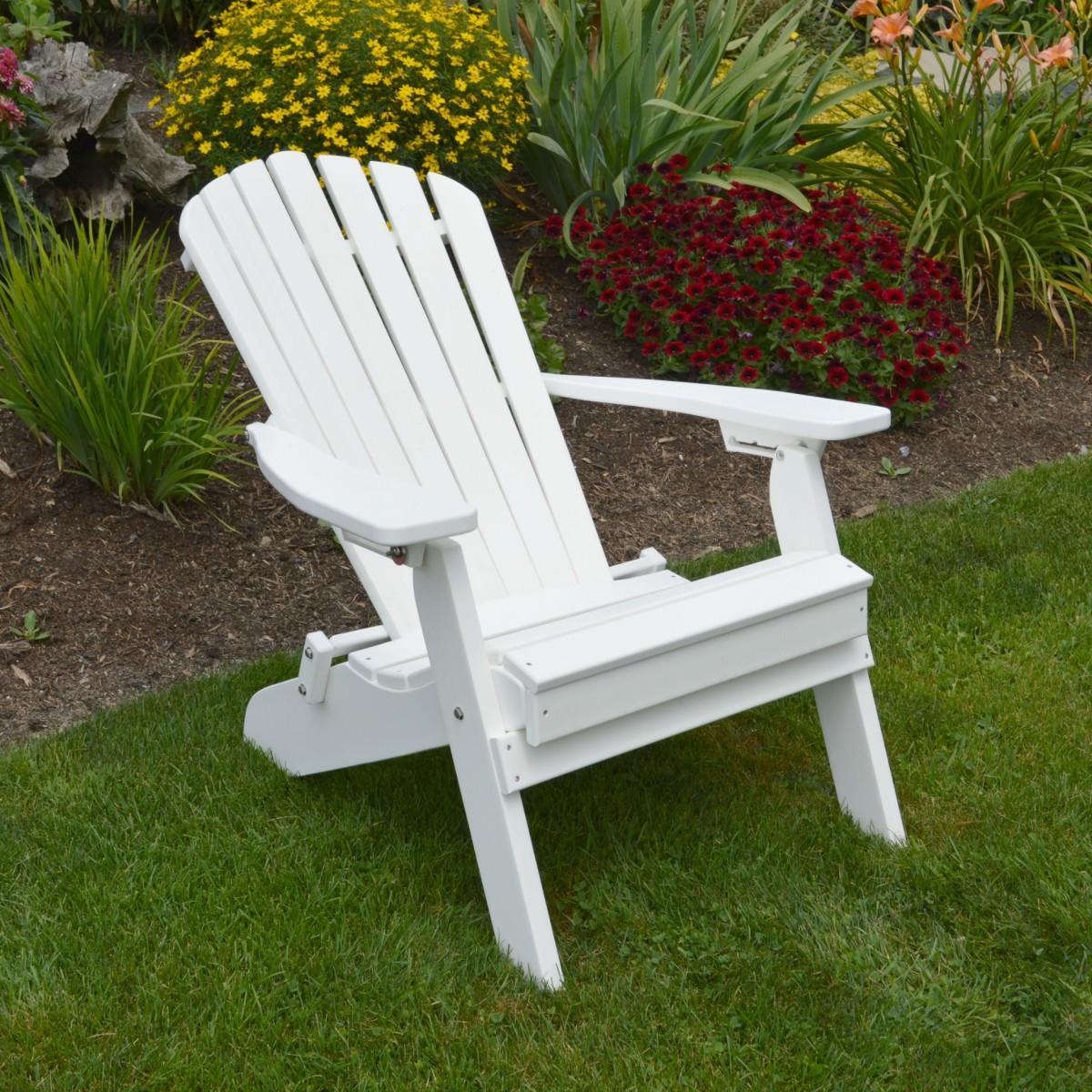 FoldingReclining Adirondack Chair  Amish Woodwork