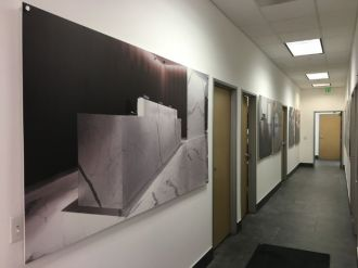High resolution wall photos on boards