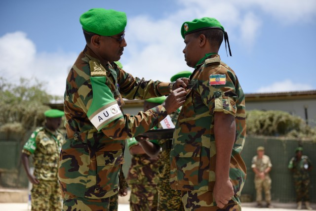 AMISOM honors Staff Officers for their contribution towards peace and stability in Somalia - AMISOM