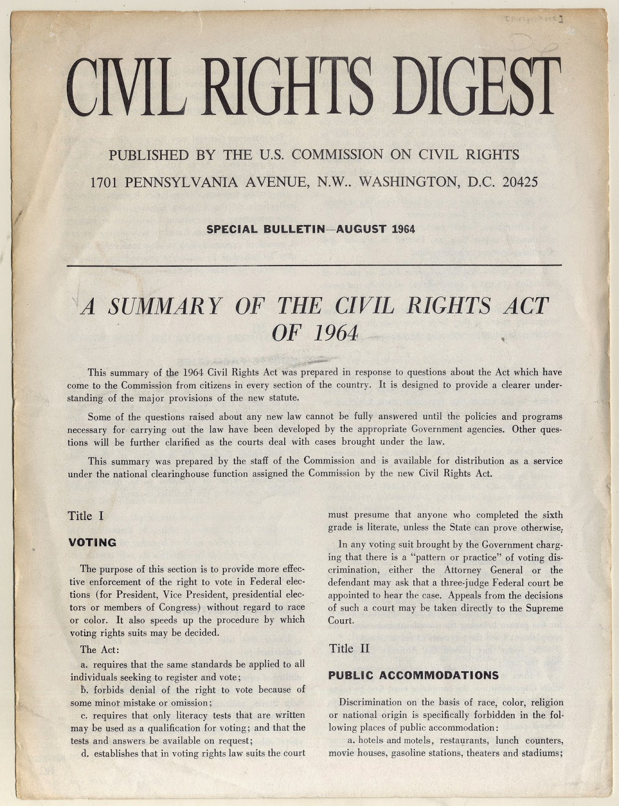 Civil Rights Amistad Research Center