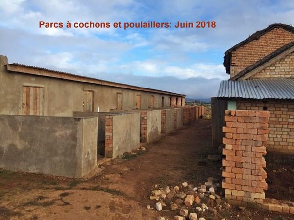 Ferme de Kélilalina en juin 2018
