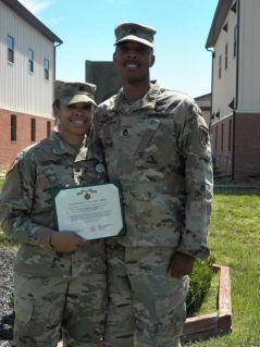 Lika receiving an award