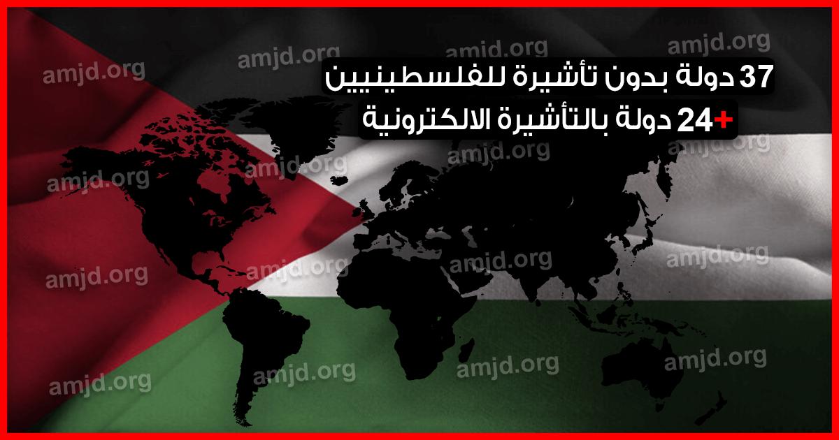 دول بدون فيزا للفلسطينيين