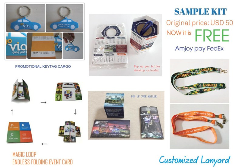 promotional products free sample kit AMJOY PPAI 508991
