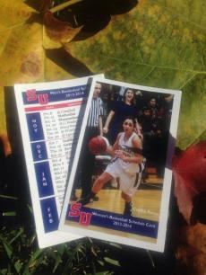 SU Basketball Schedule Cards