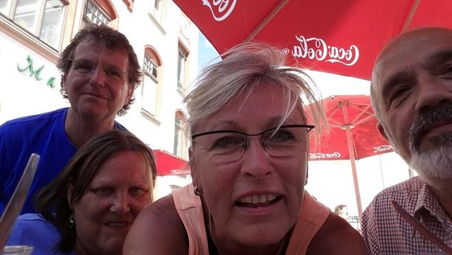 Überraschungs-Selfie mit Bärbel & Rolf