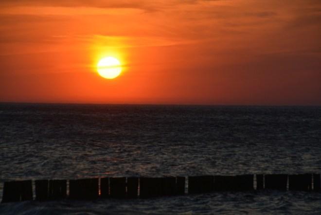Ostsee-Sonnenuntergang in Börgerende