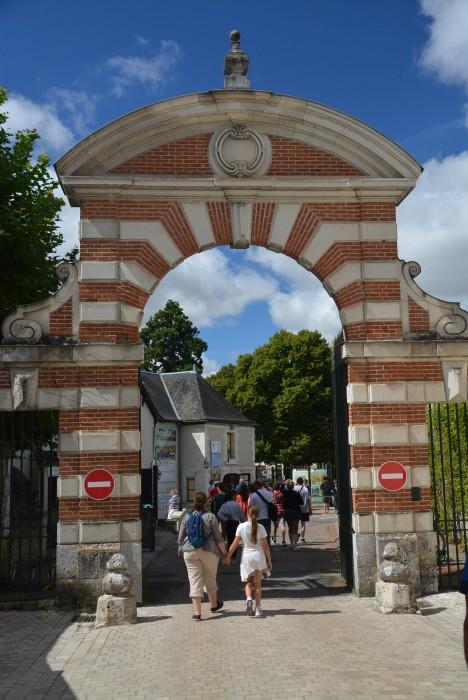 Gedränge am Eingang zu Schloss Cheverny