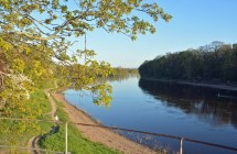 Gemächlich fließende Elbe
