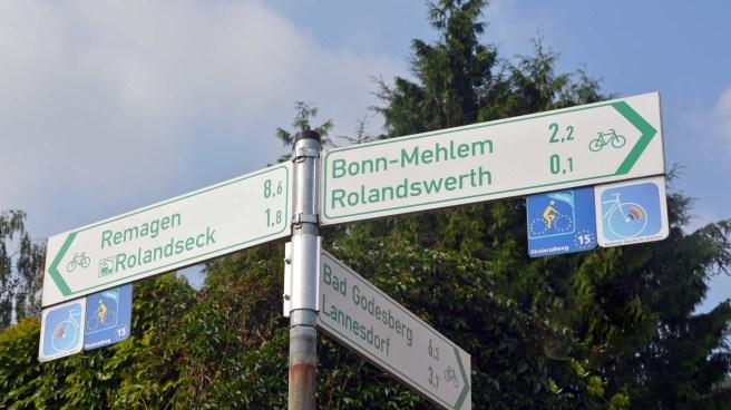 grüne Radschilder Rheinland Pfalz