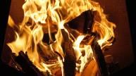 Feuerglut nach dem Grillen