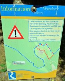 Wanderwarnung