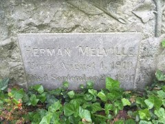 Inscription on Melville's tomb