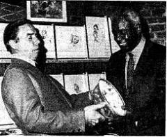 Pee Wee Reese and Jackie Robinson in 1971