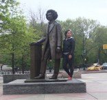 The author at the Frederick Douglass Memorial