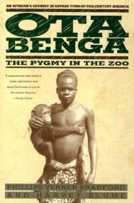 Ota holding Dongho on the cover of Ota Benga: The Pygmy in the Zoo